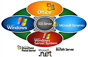 Microsoft Dynamics, Office, Windows, SQL Server, Sharepoint, BizTalk, .NET